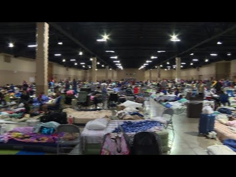 People in Florida get into shelters ahead of hurricane Irma