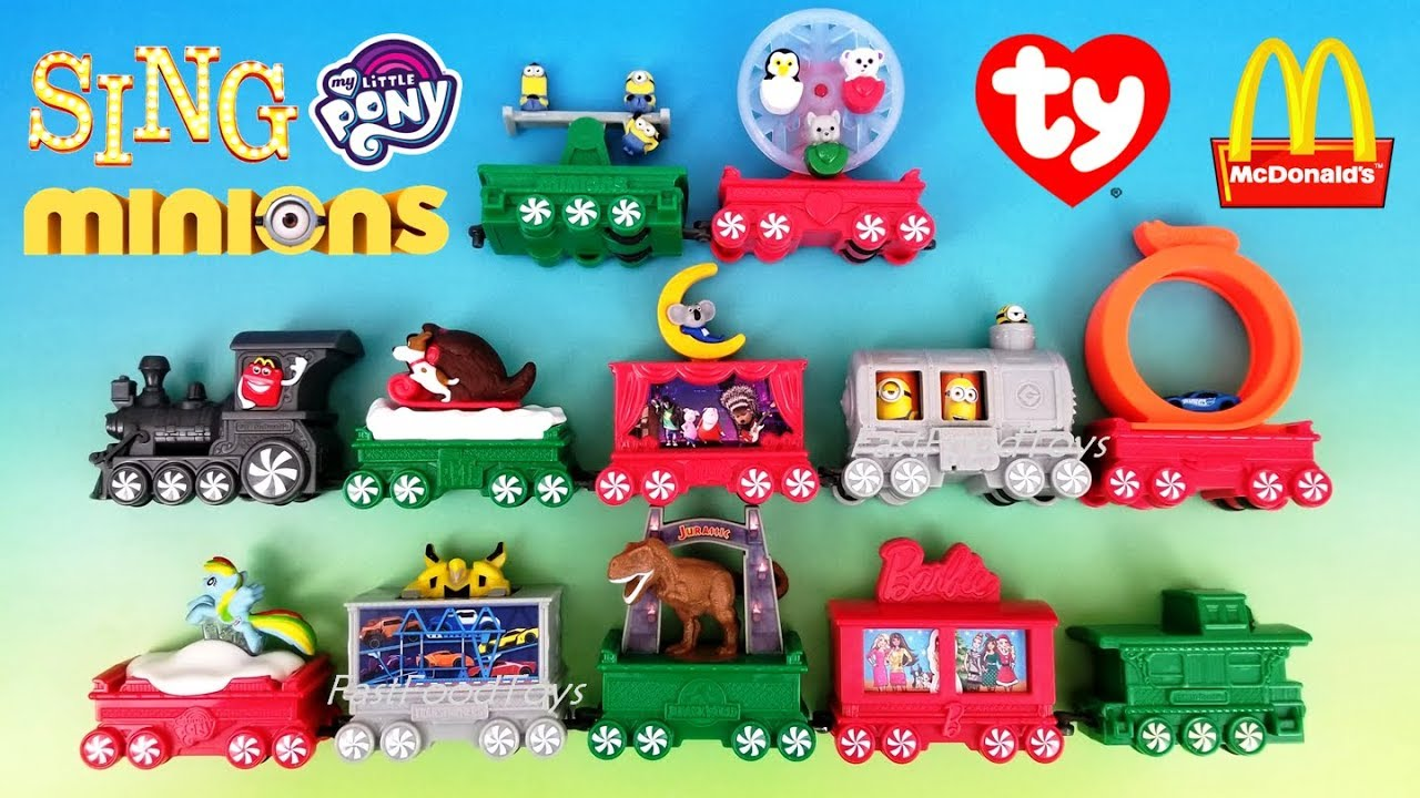 2017 McDONALDS HOLIDAY EXPRESS TRAIN HAPPY MEAL TOYS FULL SET ALL 12 ...