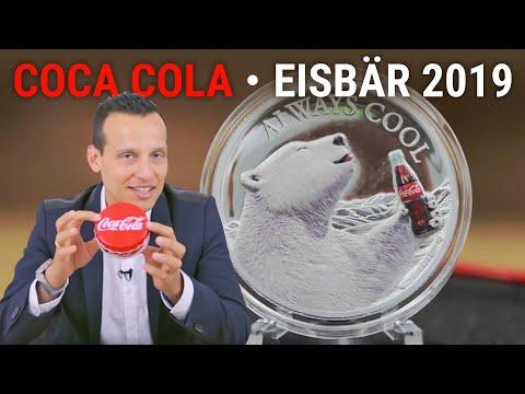 1 Unze Silber - Coca Cola Eisbär 2019 PP - Nur 2.500 Stück