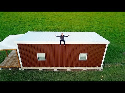 17 YEAR OLD BUILDS MODERN TINY HOUSE