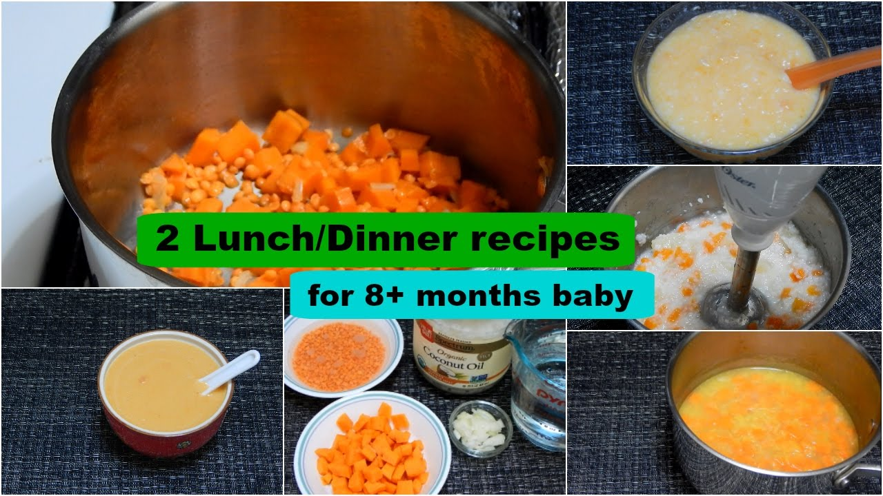 2 lunch/dinner recipes for 8+ months baby l healthy baby food recipe