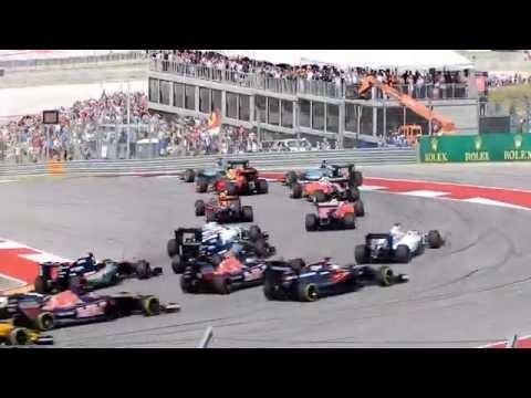 Formula 1  2016 United States GP Start - Austin TX