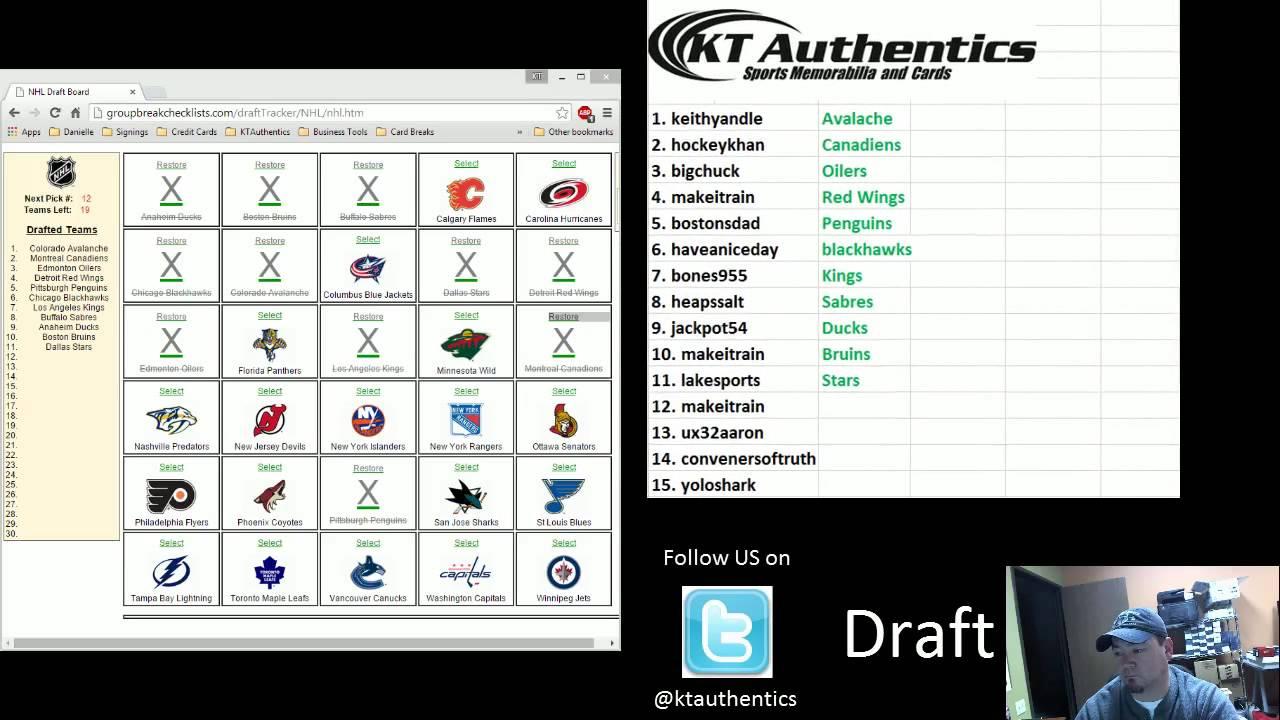 KTAuthentics - 2013-14 Panini National Treasures Hockey 4 Box Case 2 Team  snake draft #1 - Draft