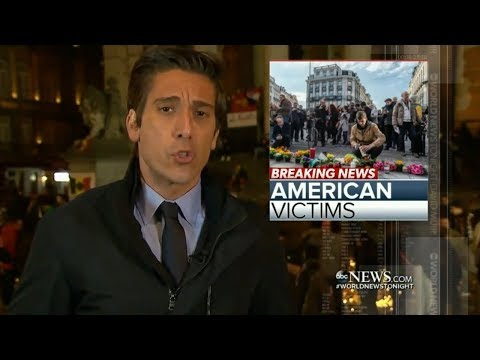 DAVID MUIR Reporting on Brussels Bombings, March 2016
