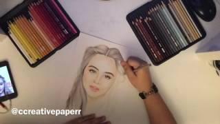 Sabrina Carpenter Drawing Time-Lapse