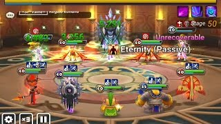 Summoners War: ToA 50 normal, Veromos and basic team for Toa (auto)