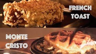 Rice Krispie Treat French Toast, Donut Monte Cristo