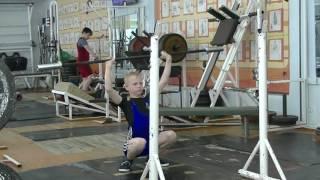 Отегов Степан, 11 лет, св 30  Жим с груди в седе 10 кг