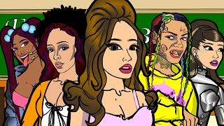 Ariana Grande - 34 35 Remix ft. Doja Cat and Megan Thee Stallion (CARTOON PARODY)