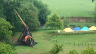 Warrick Castles Trebuchet In Action