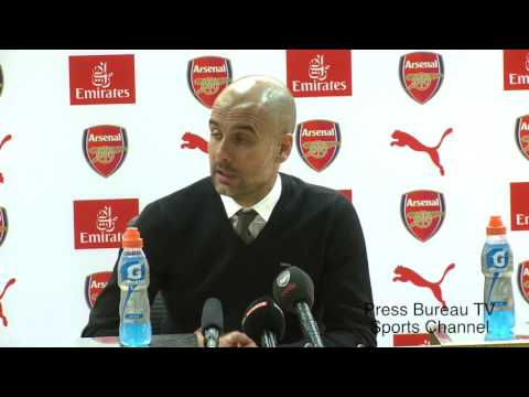 Pep Guardiola reaction Arsenal vs Manchester City
