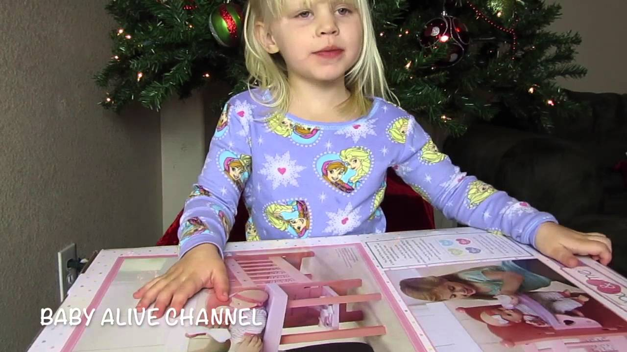 Baby Alive Doll Christmas All In One Nursery Unwrapping
