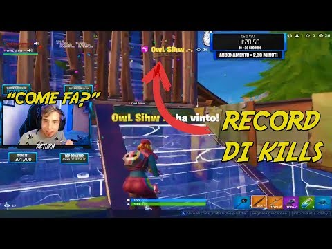 DISTRUGGE IL RECORD DI KILL E URLA ALLA FINE! FORTNITE