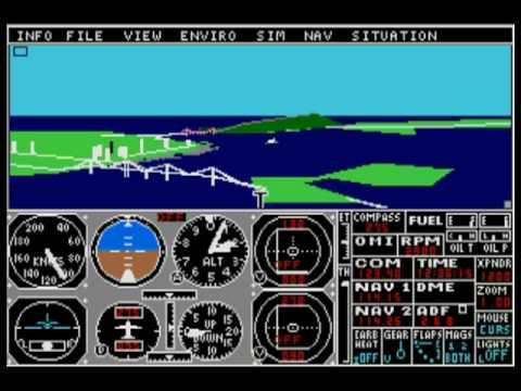 subLOGIC Flight Simulator II for Atari ST