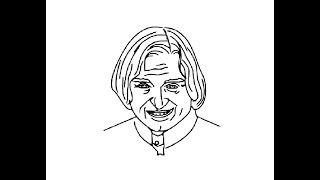 How to Draw easy Abdul Kalam azad face pencil drawing for kids