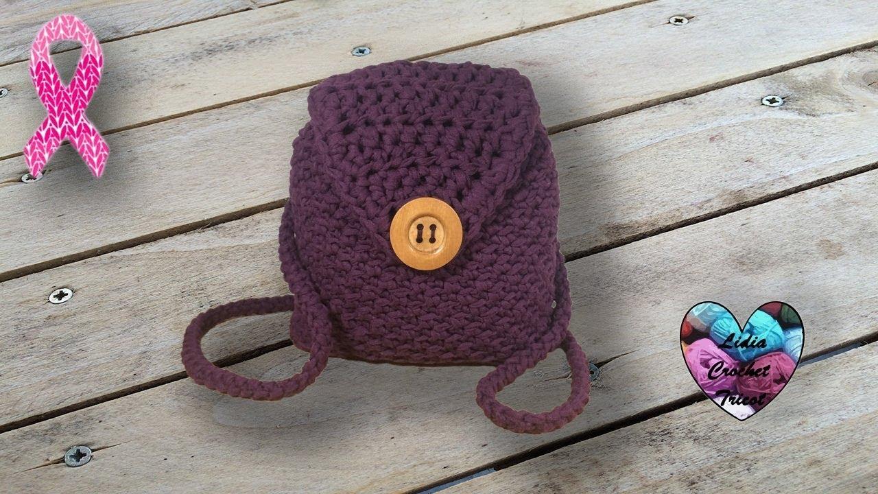 sac a dos crochet trapillo facile mochila tejida a crochet