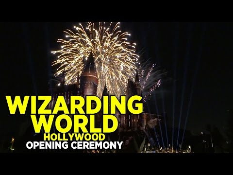 FULL Wizarding World of Harry Potter grand opening ceremony at Universal Studios Hollywood