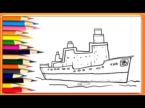 How To Draw A Simple Ship Easy Drawing For Kids Youtube