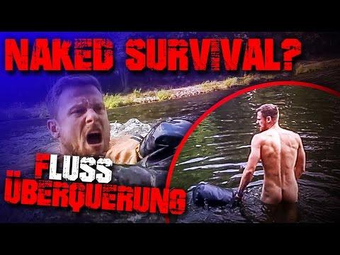 NAKED SURVIVAL? - Fluss überqueren - Outdoor Bushcraft Survival Deutschland (deutsch) ISAAC Packsack