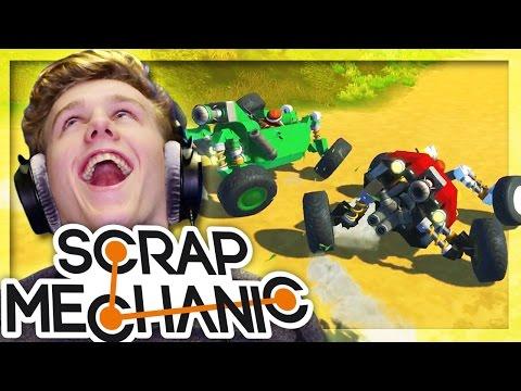 EXTREME RACECAR TRACK RACE! | Scrap Mechanic W/Lachlan & MrMEOLA