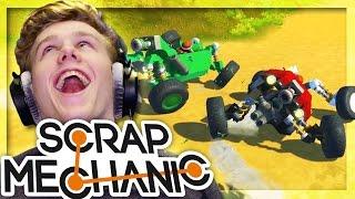 EXTREME RACECAR TRACK RACE!   Scrap Mechanic w/Lachlan & MrMEOLA