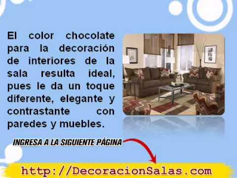 decoración de salas en color café - Pintura Para Salas De Piel