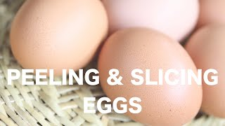 モンテッソーリ教育の日常生活の練習の中から「ゆで卵を切る」というお...