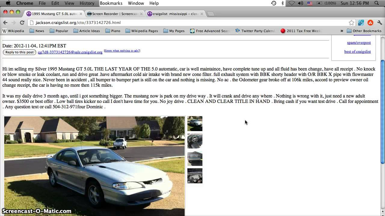Craiglist in jackson ms