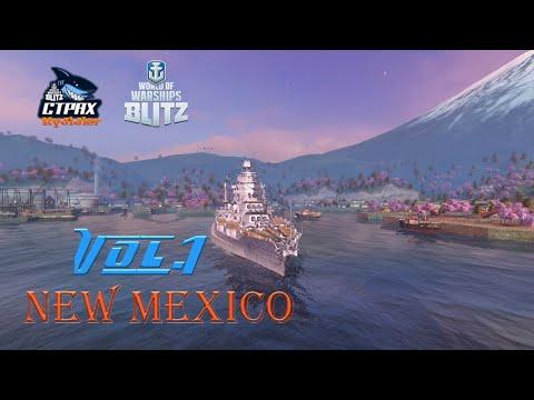WOWS BLITZ Флот :СТРАХ NewMexico VI