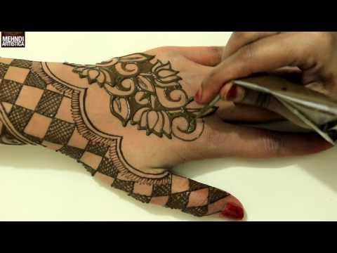 Simple Beautiful Chess Checks Floral Henna Mehendi Designs|Learn Latest Mehndi Art 2017 Creation