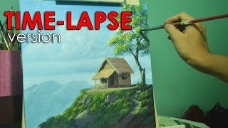 Time-lapse Acrylic Painting Demo - House on Top of Hill by JMLisondra
