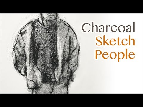 Basic Drawing: how to sketch people with charcoal pencil