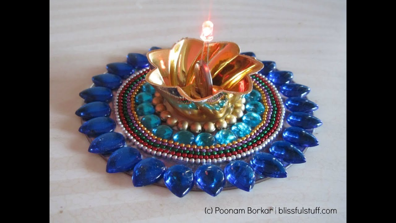 Diy how to recycle old cds into beautiful candle holder for Best out of waste step by step