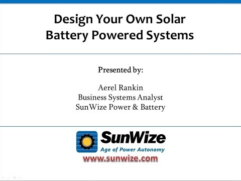 New Online Tools Training   Design Your Own Solar & Battery Backup Systems
