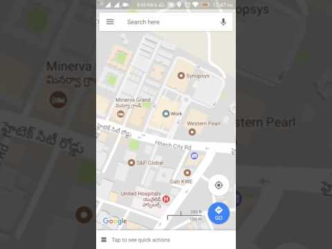 How to set Home and Work location on Google Maps App on Android Phone