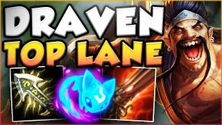 UNLEASH YOUR INNER TYLER1 IN TOP LANE WITH THIS DRAVEN BUILD! DRAVEN TOP GAMEPLAY! League of Legends