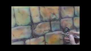 Видео урок рисуем камни аэрографом