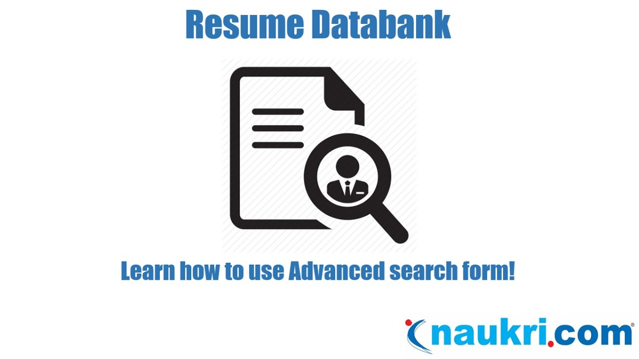 how to search resumes in naukri advanced search form youtube