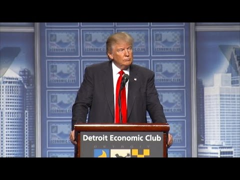 Full Video: Trump lays out economic plan amid protests