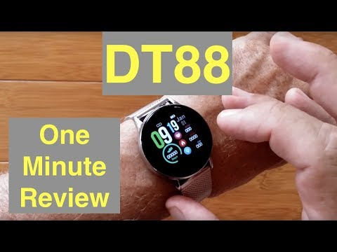 DTNo.1 DT88 IP68 Waterproof Sports/Business/Health/Dress Smartwatch: One Minute Overview thumbnail
