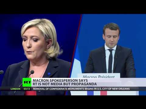 Macron's campaign accuses RT of Fake News After Le Pen Surges in Polls