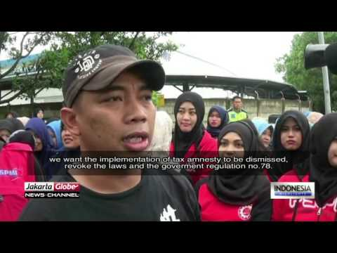 Labor Unions Protest Against Tax Amnesty