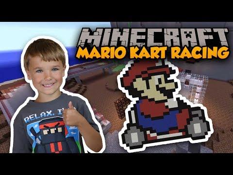 SUPER MARIO KART RACING in MINECRAFT ?!