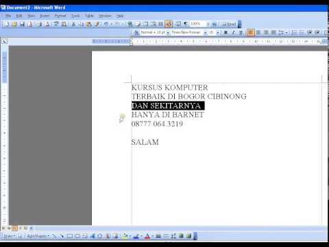 KURSUS KOMPUTER OFFICE BOGOR - HP. 08777.064.3219