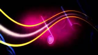 Large Multi-Colored Music Notes Motion Background