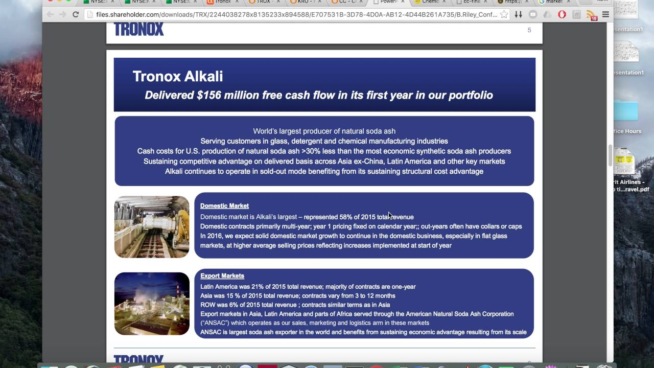 Start buying TROX - Tronox - June 25, 2016