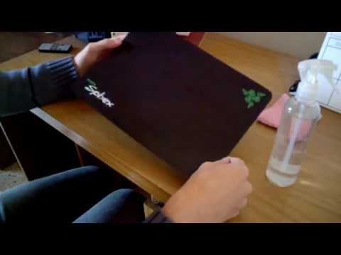 Razer Sphex mouse mat fix - How to clean the adhesive surface - sub ESP & ENG
