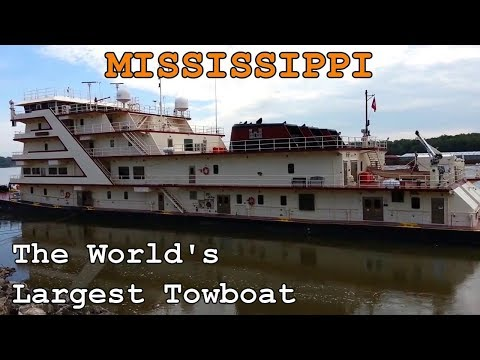 MISSISSIPPI - World's Largest Towboat (Mississippi River) CITY Of CAPE GIRARDEAU, MO - USA
