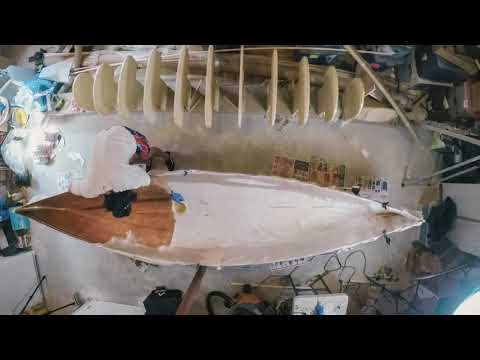 Fiberglassing the Inside of my Canoe (What a mess...)