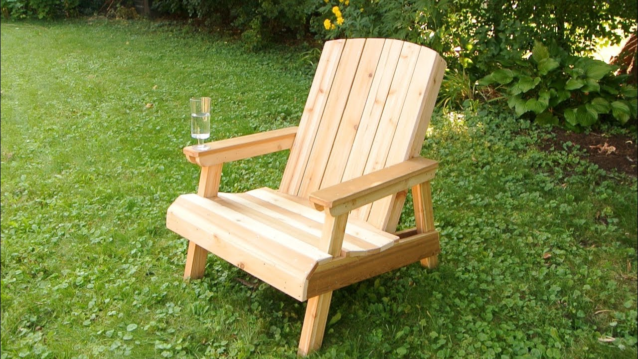 Outdoor Wooden Chairs building a lawn chair (old edit) - youtube